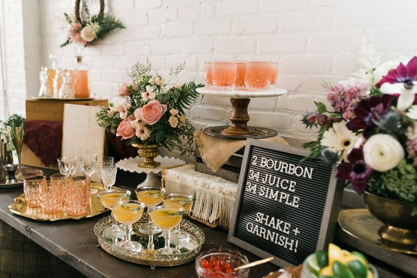 How To Set Up Your Own Bridal Shower Bourbon Bar