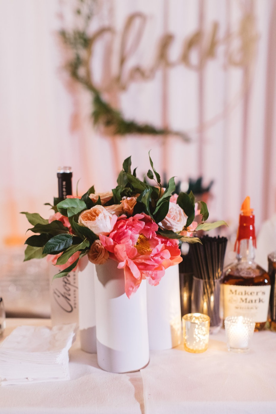 Wedding bar florals