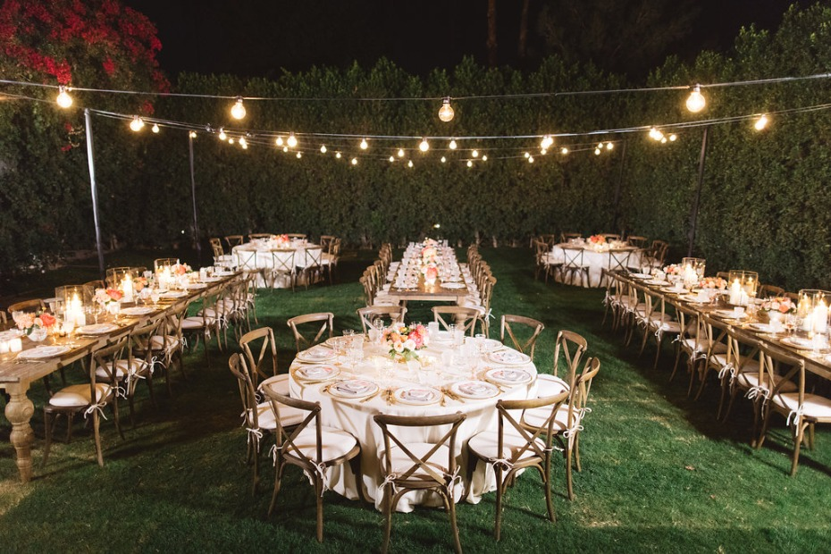 Outdoor reception in Palm Springs