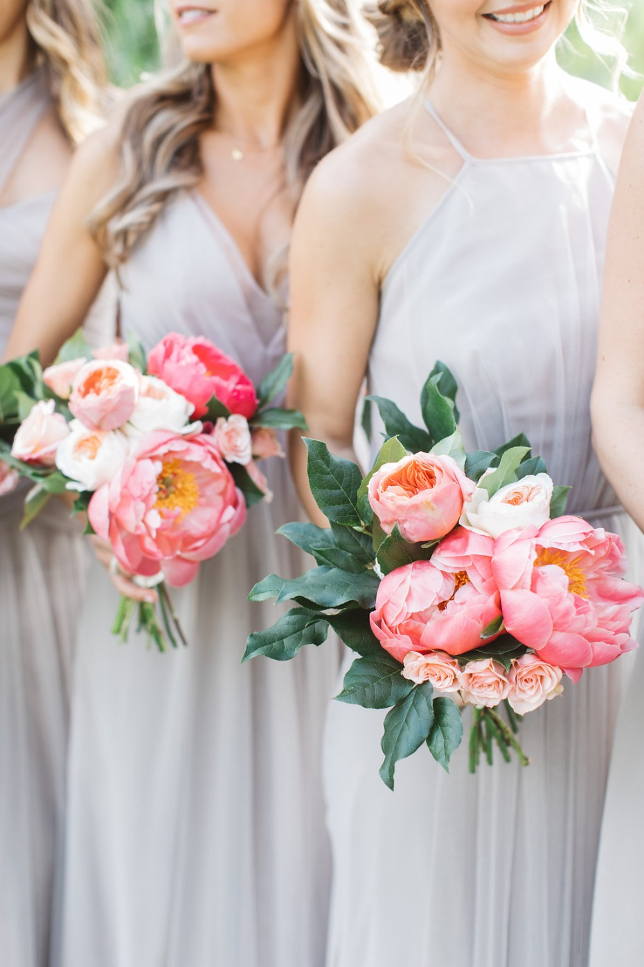 Beautiful peony and rose bouquets