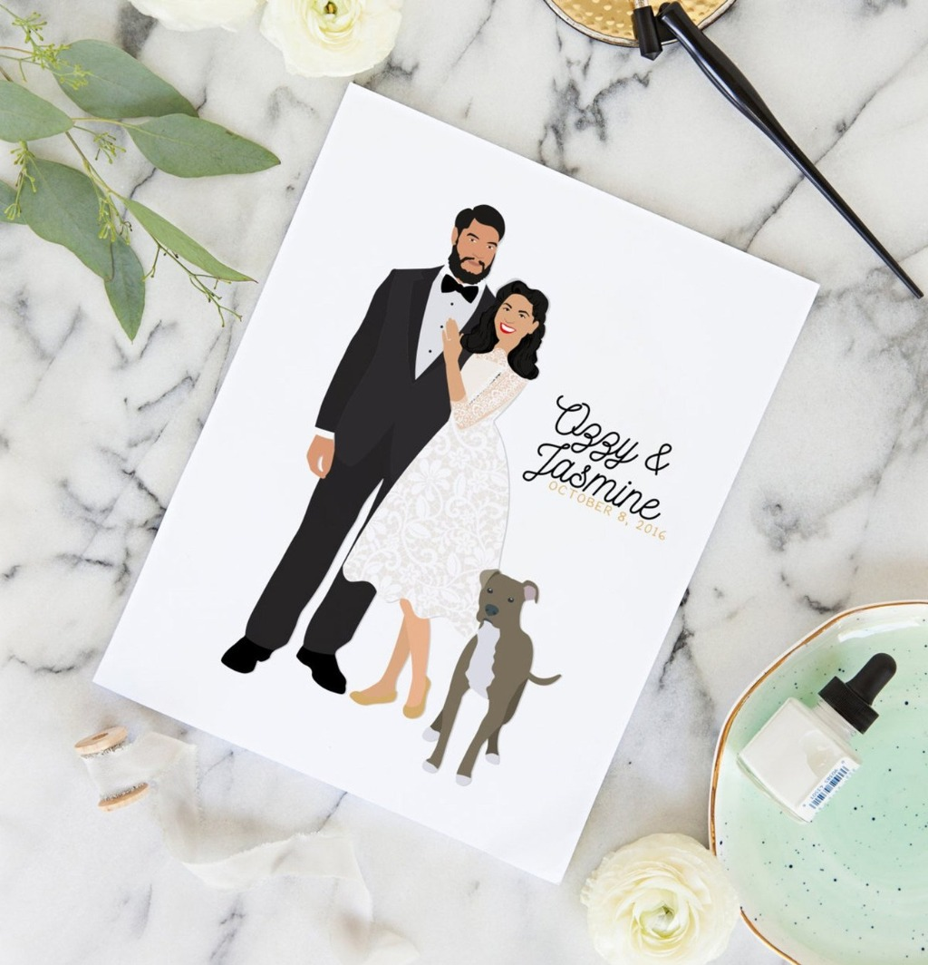 Love the look of our guest book alternatives but still want the look of a traditional guest book? Miss Design Berry's Couple Portrait