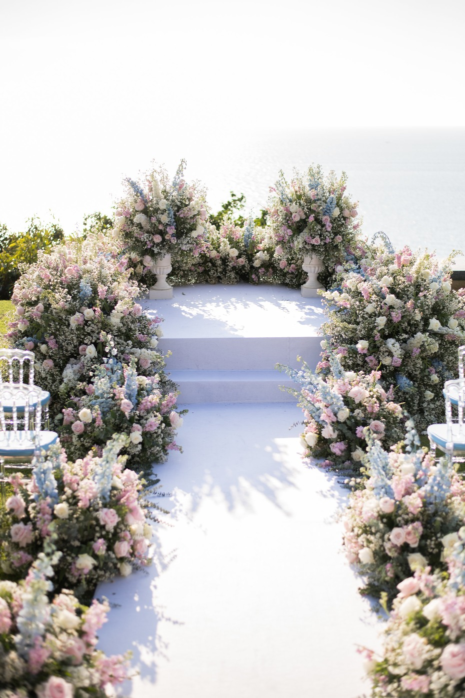Wedding ceremony filled with flowers