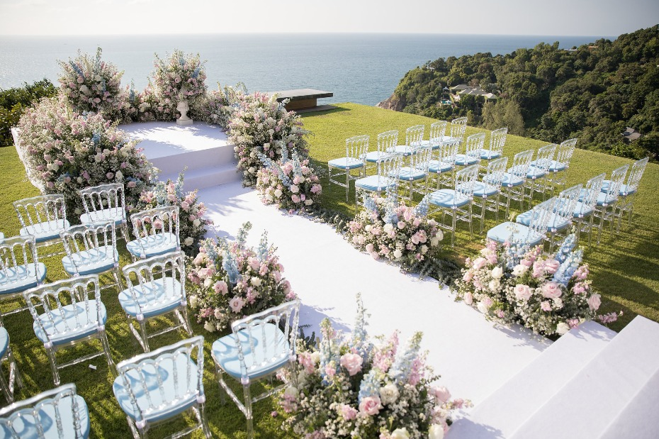Stunning ocean view ceremony