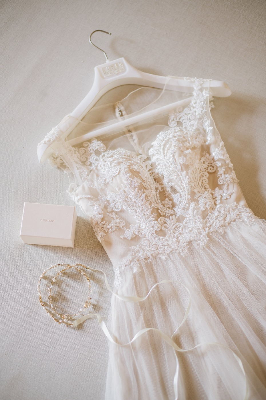 Embellished wedding gown by Lusan Mandongus