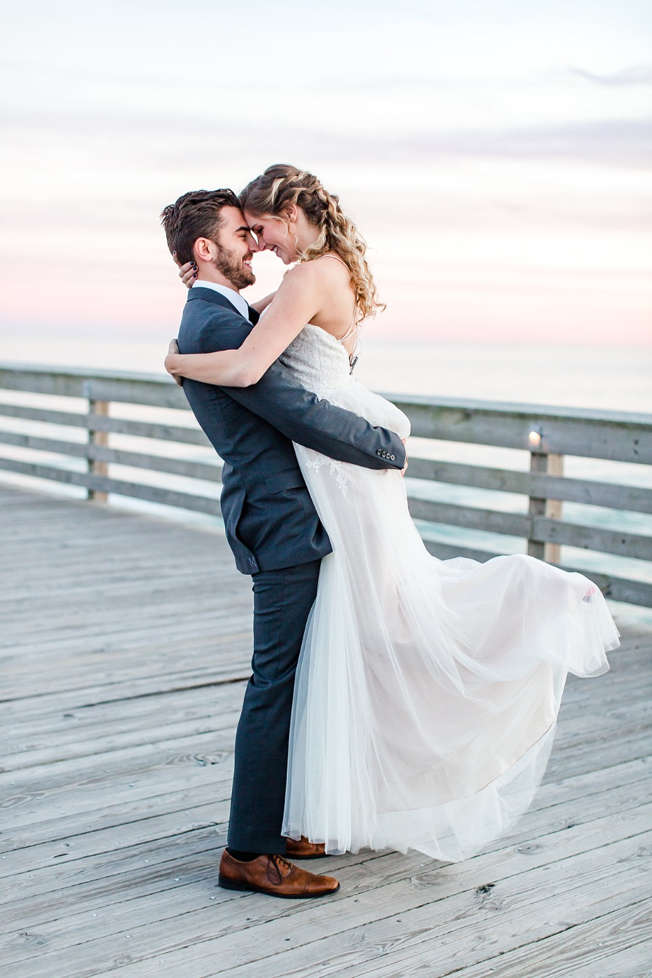 sunset wedding at the beach
