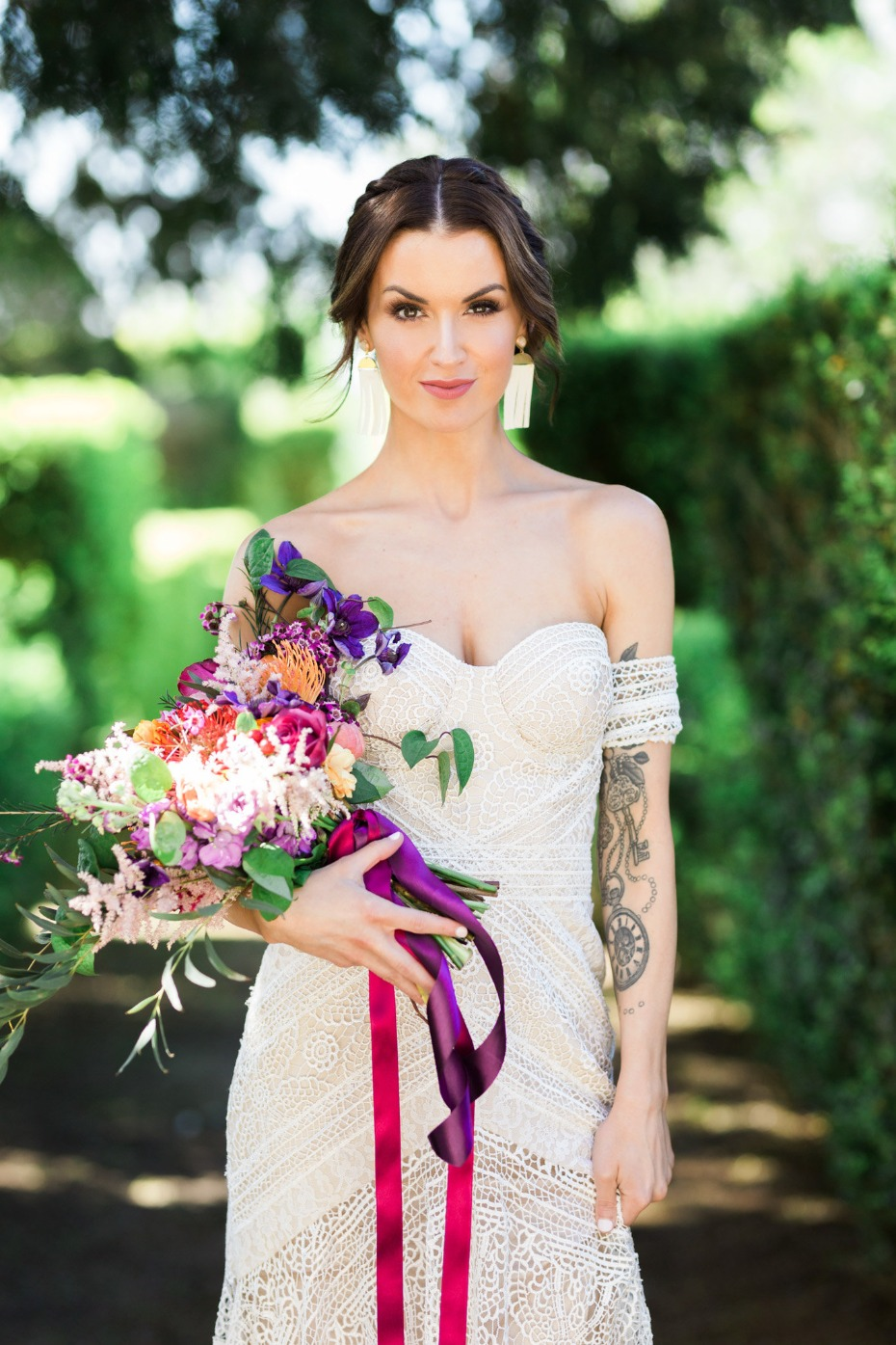 romantic and chic bridal style idea