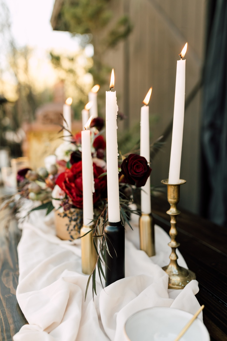Tapered candles are a table must