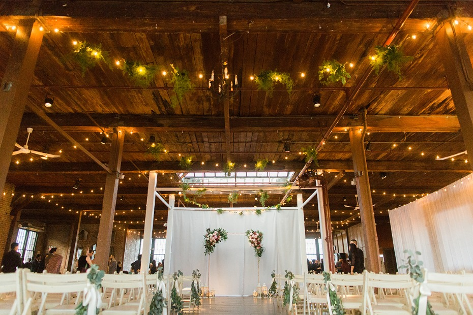 industrial rustic chic ceremony idea