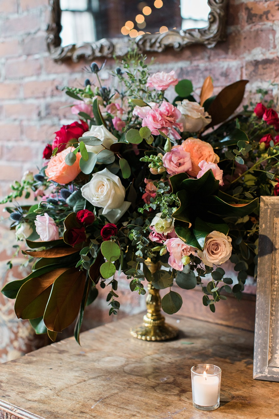 romantic wedding floral decor