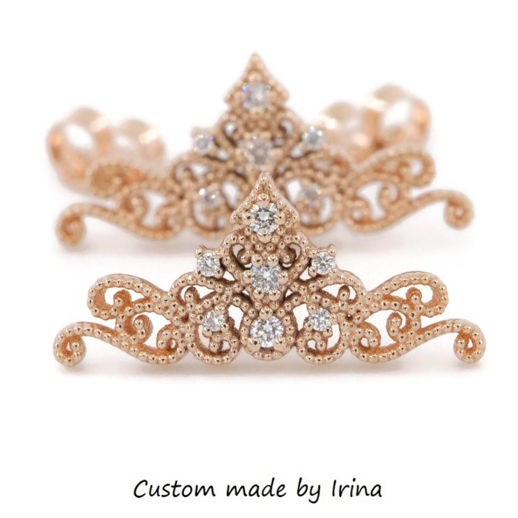 Get inspired by these Tiara earrings for a real Princess!