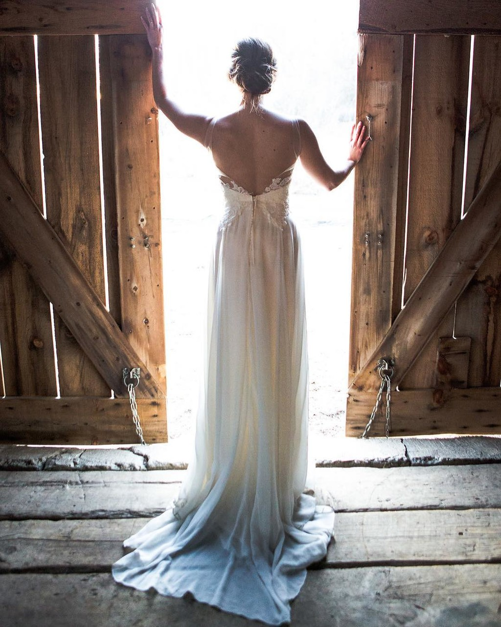 The promise of this new day. See more of this wildly romantic, barn wedding on the blog. Gown: Ophelia loaned through our flagship