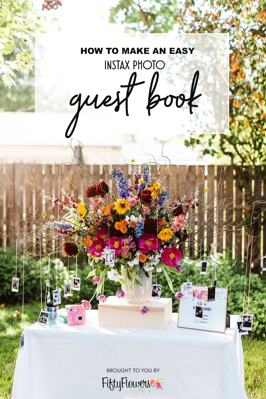 how to make an easy Instax photo guest book
