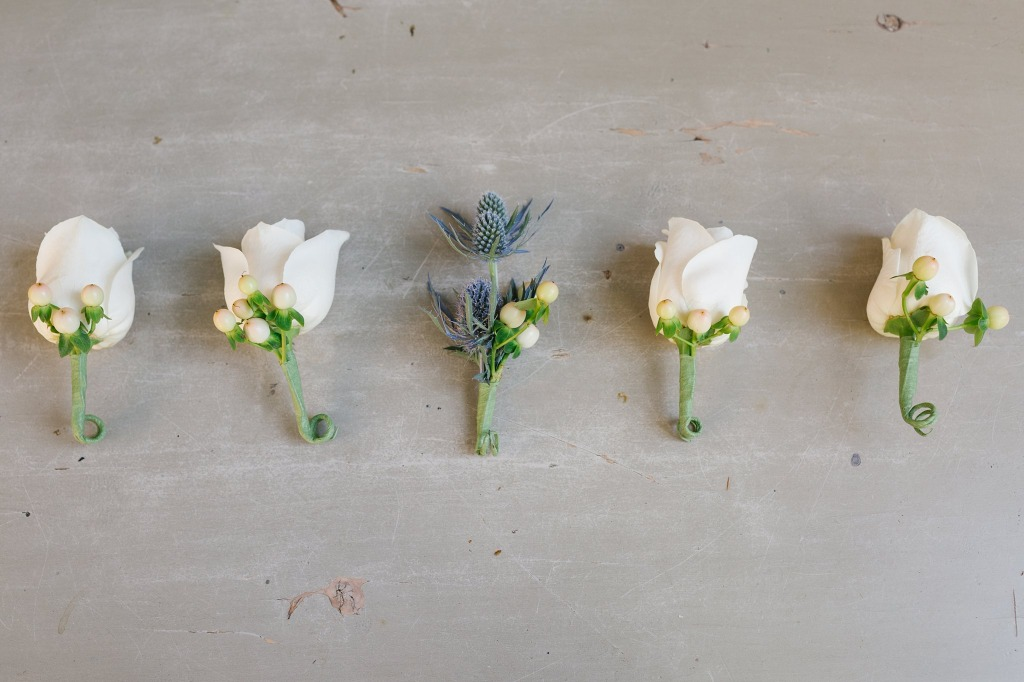 Love capturing the beautiful details that go into each wedding day. The thistle in this groom's boutonniere was a perfect touch!