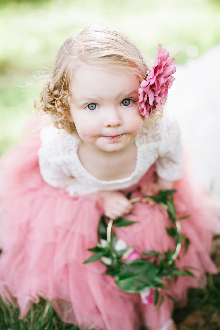 soft pink flower girl style