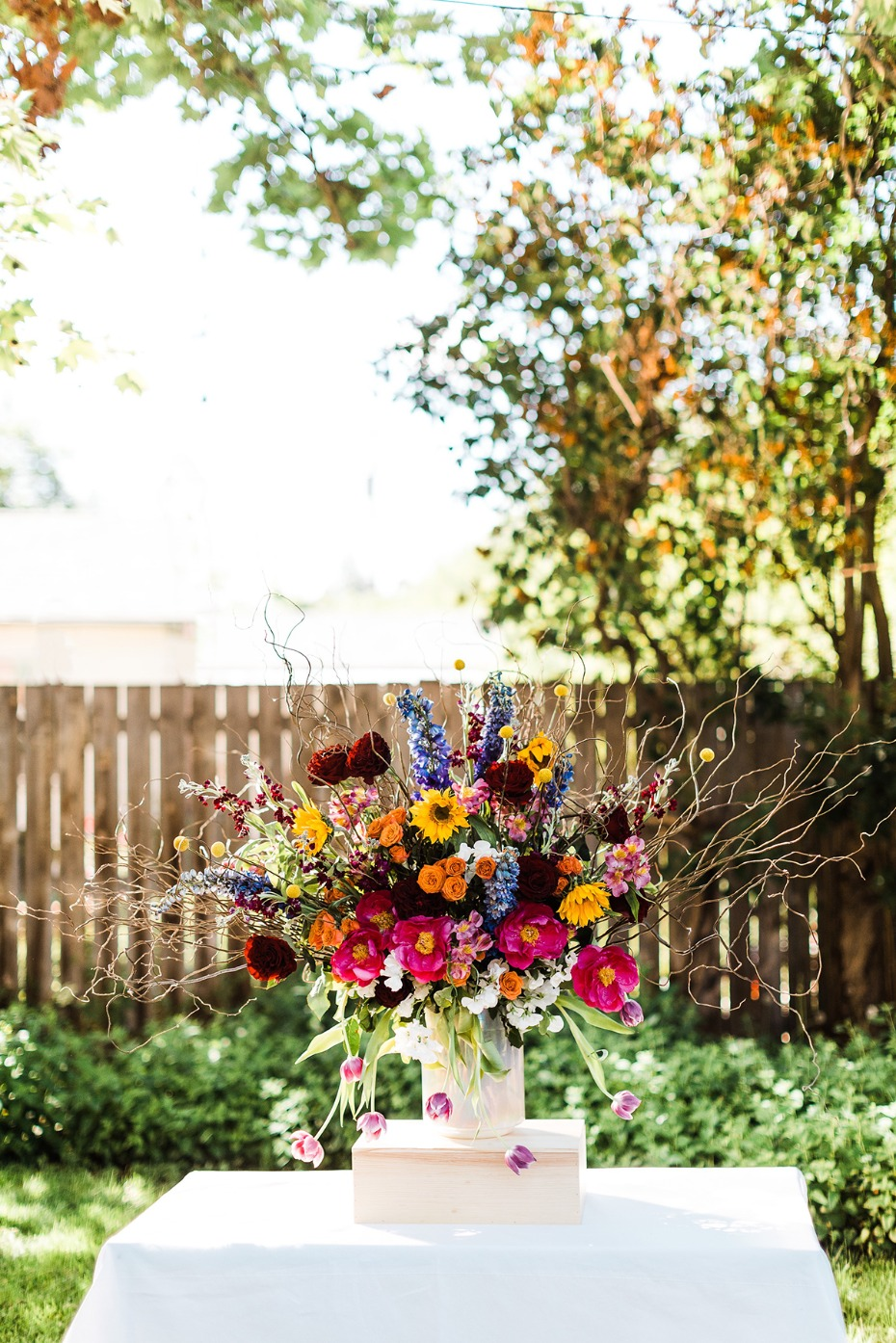 boho chic floral arrangement from Wholesale Flowers by FiftyFlowers.com