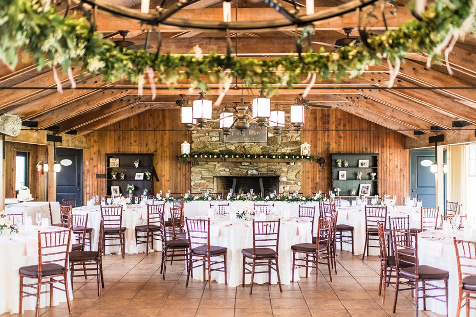 rustic chic wedding reception decor