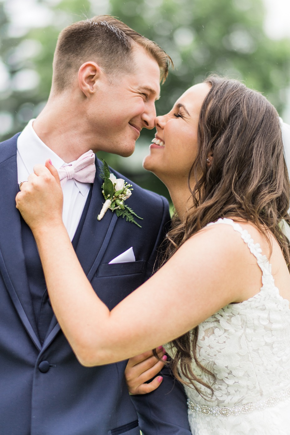 adorable wedding couple in love