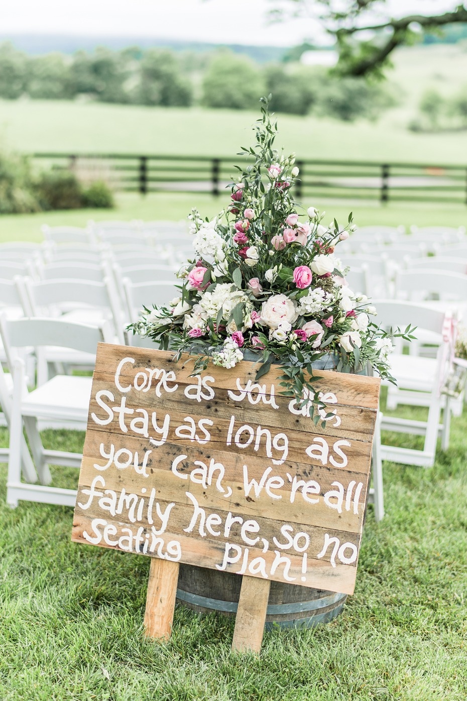 come as you are wedding sign
