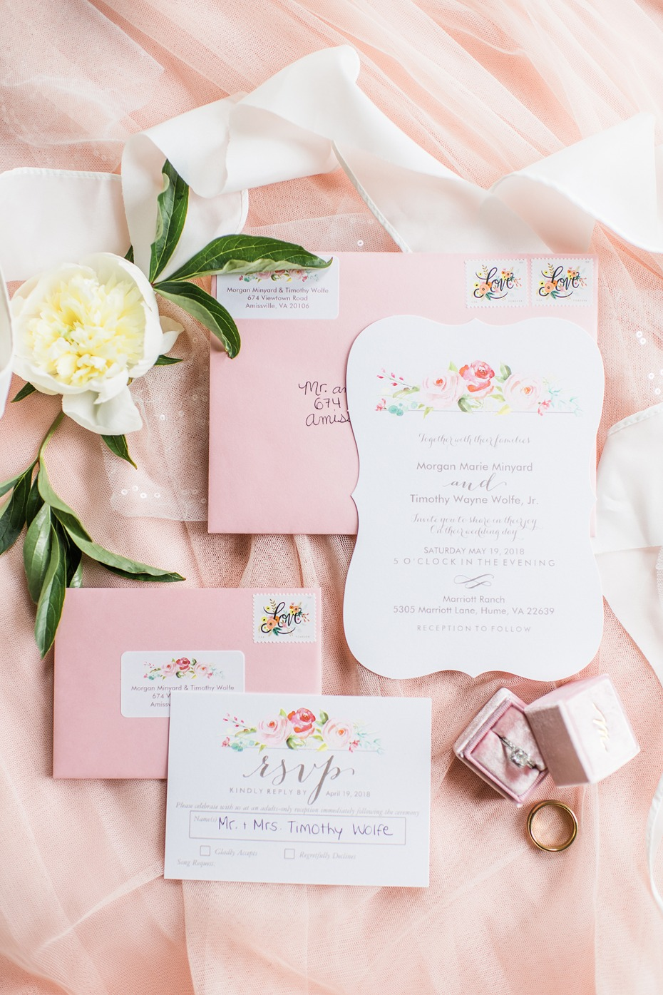 floral wedding invitaions