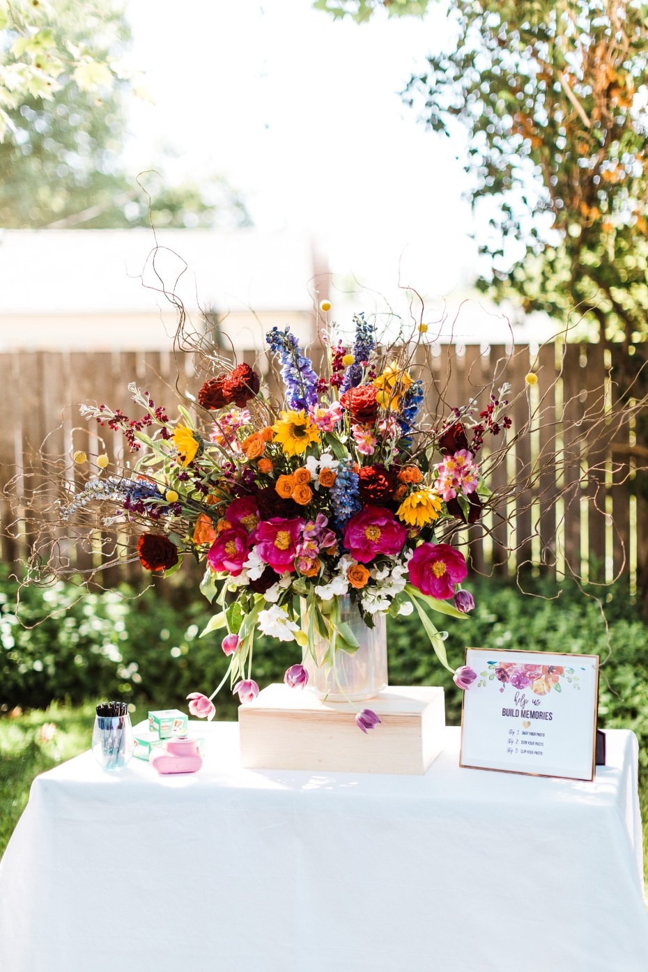 unique wedding guest book from FiftyFlowers.com