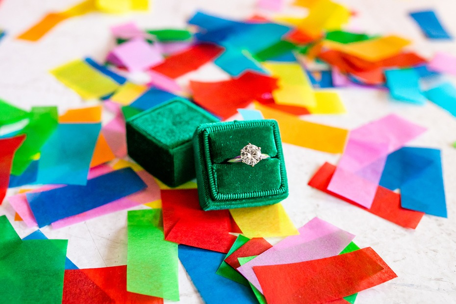 emerald green Mrs Box ring box