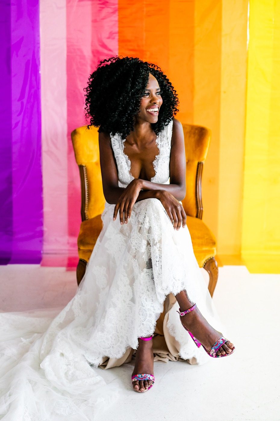 how to add rainbows to your wedding day