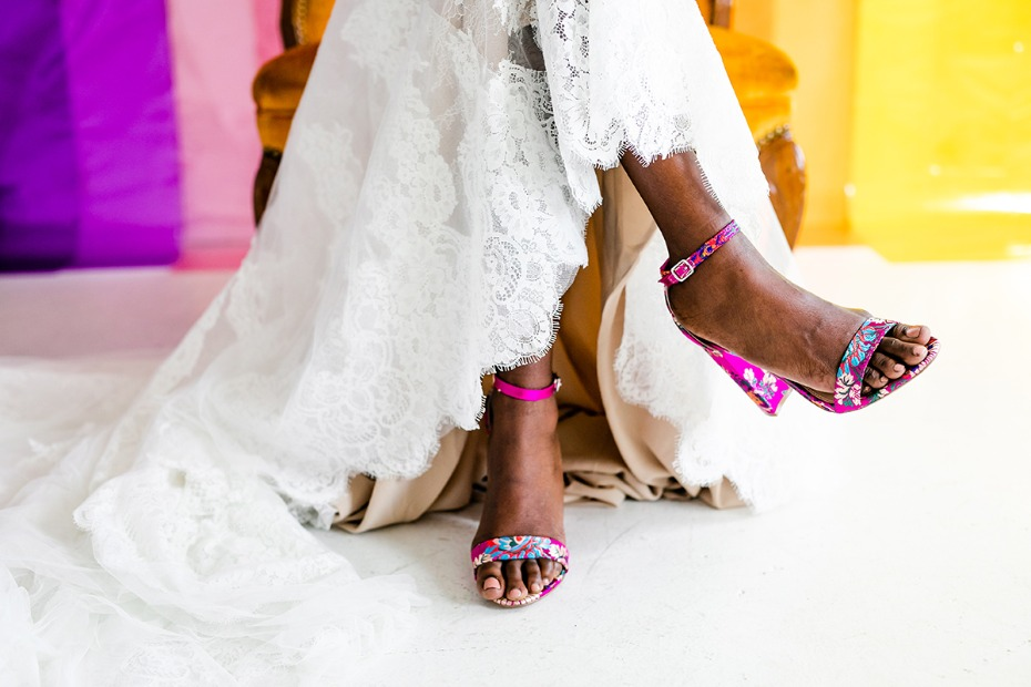 bold wedding shoe idea