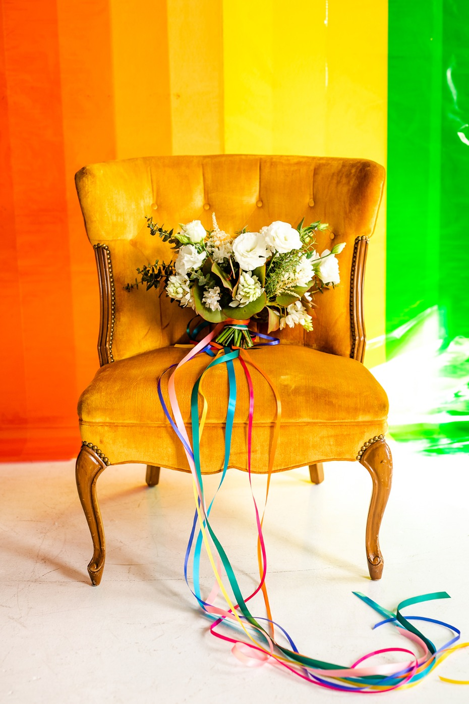fun and funky wedding chair idea