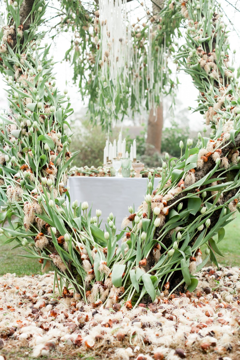 A tree covered in tulips! Tulip mania wedding ideas