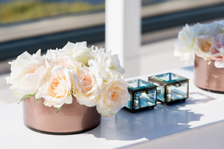 glamorous guest book table