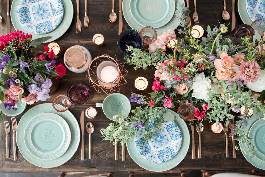 Mix and match table decor for effortless boho style