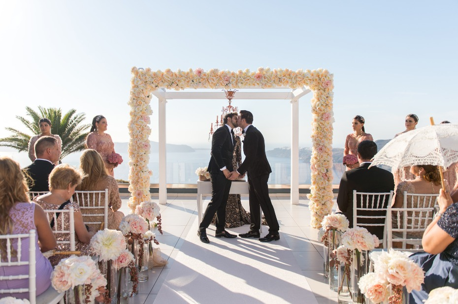 same sex wedding in Santorini