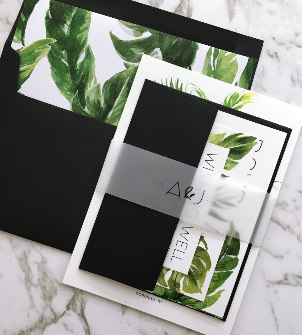 Tropical Wedding Suite | The Avalon Suite by Paper Minx Designs on Etsy | Fill in our online enquiry form for an itemised quote: https