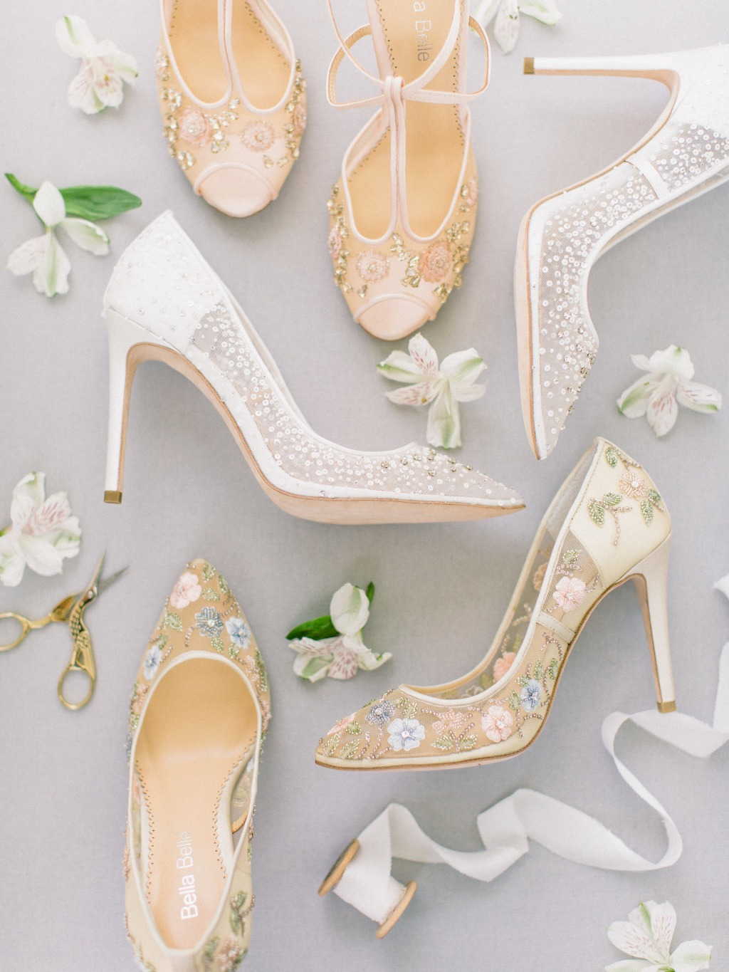 Our Bella Belle Euphoria 2018 Collection features bridal heels, flats, and booties that are irresistibly feminine and handcrafted with