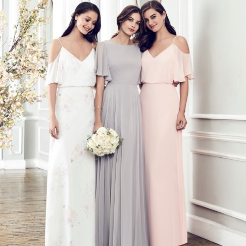 Mix and Match Dessy Bridesmaid Dresses