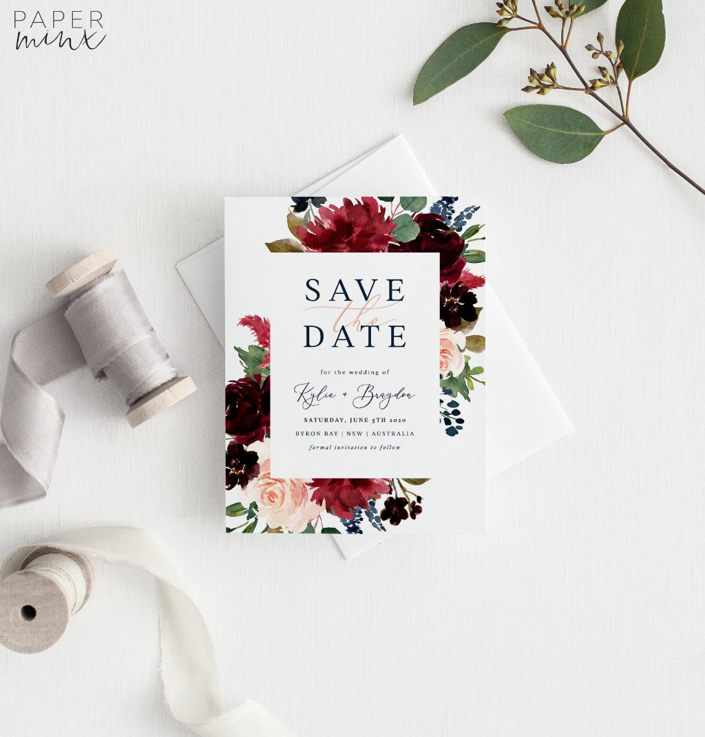15% off Save the Dates | Printed Save the Dates on Sale this month | Print onto textured Felt 275gsm or smooth Matte 310gsm