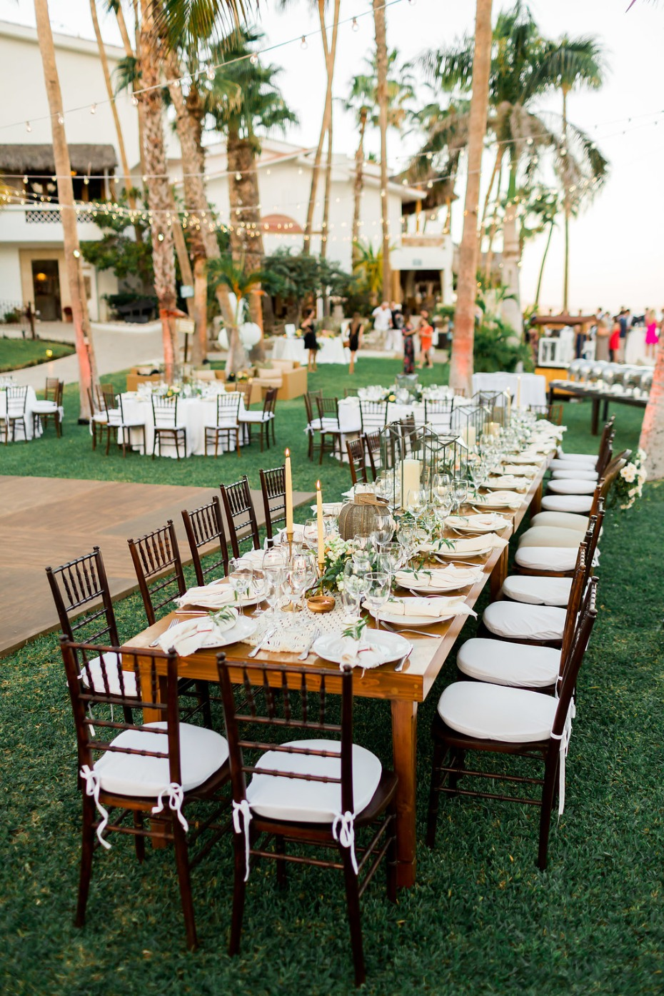 outdoor wedding reception in Cabo