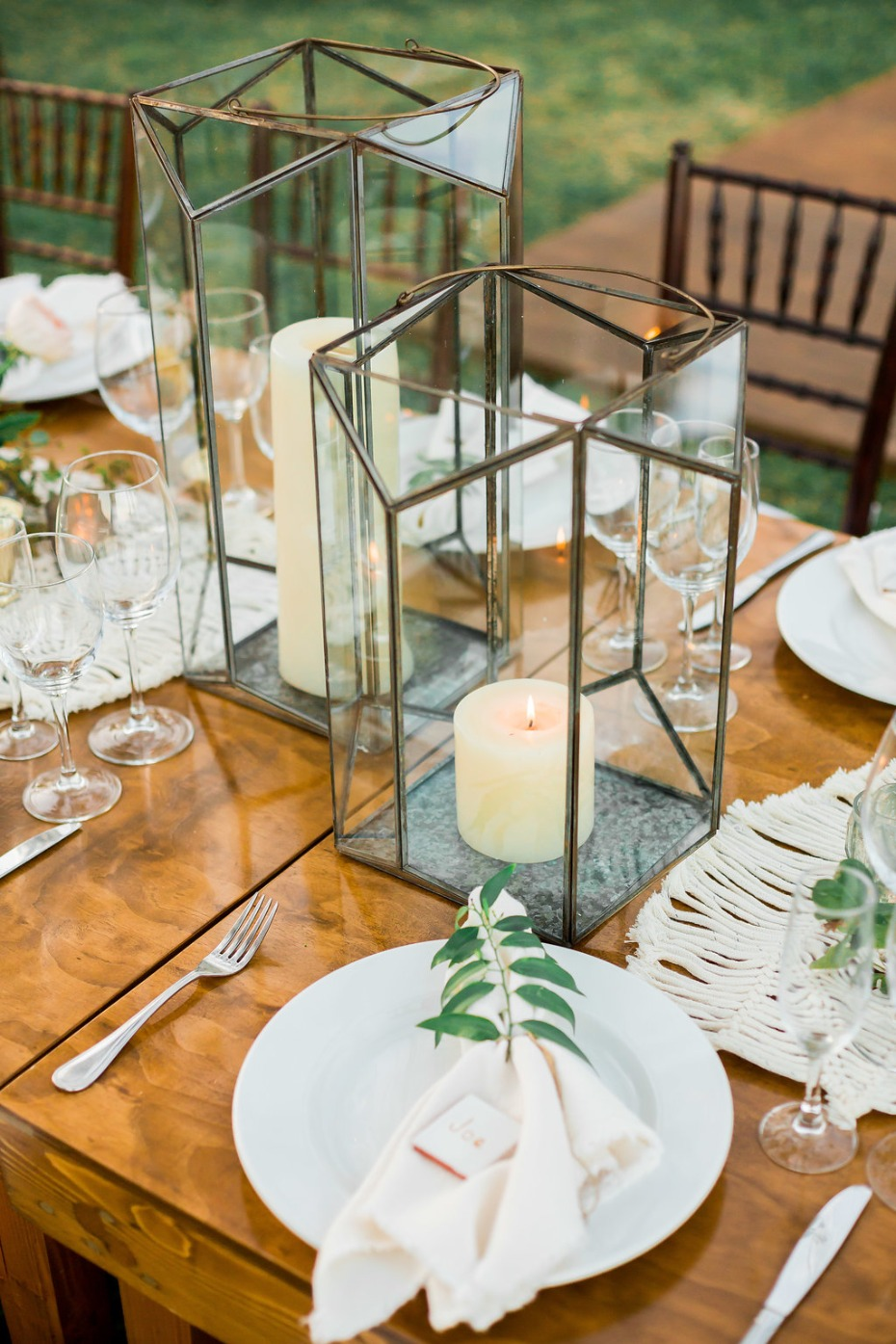 modern lantern table decor