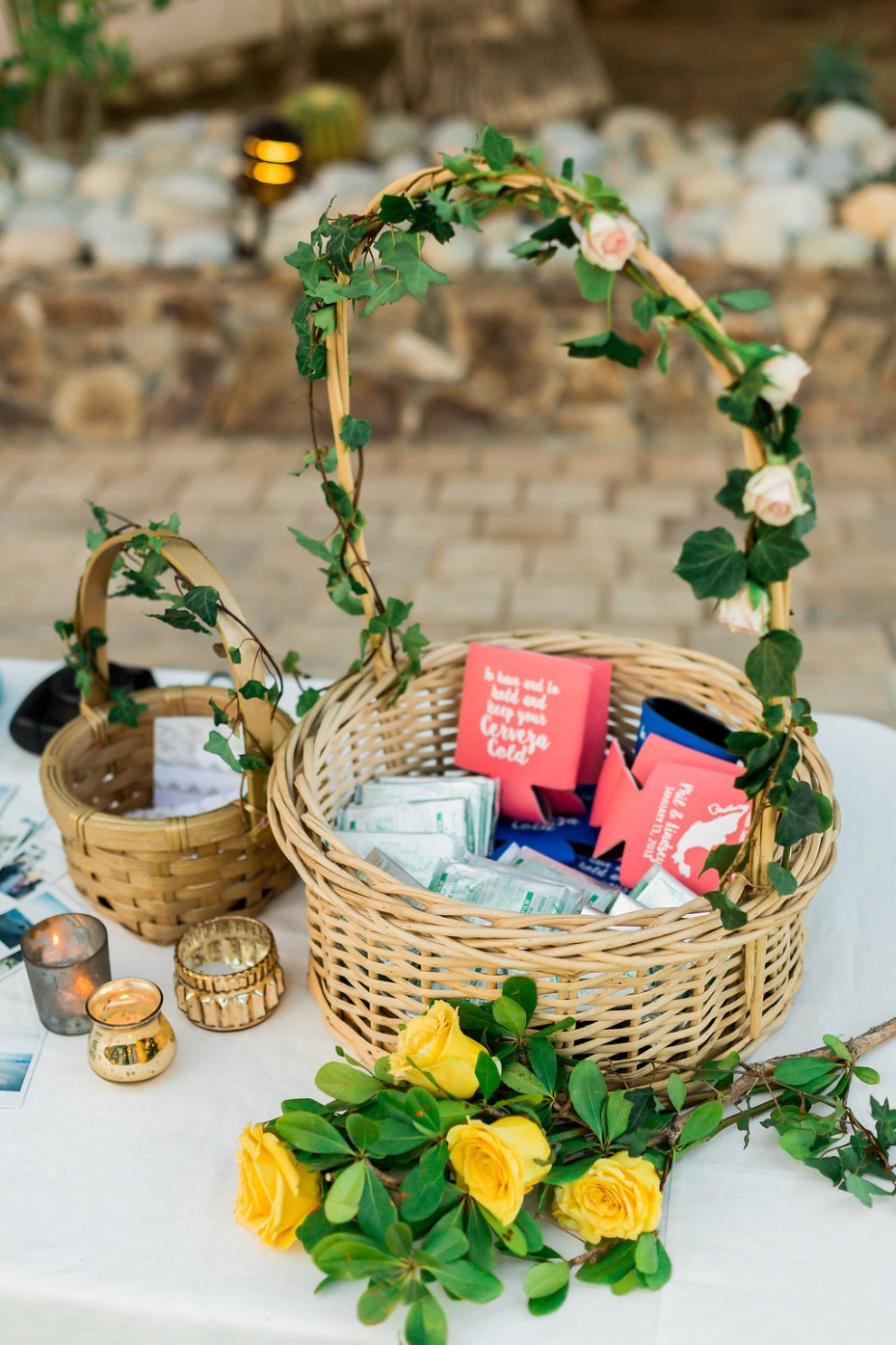 welcome table basket