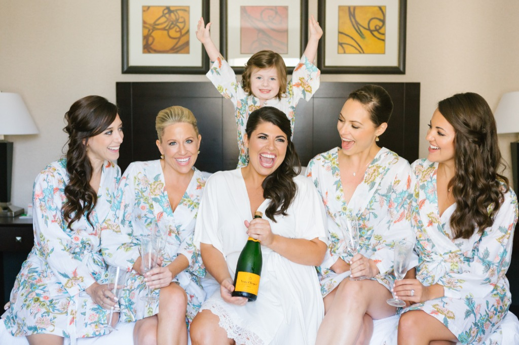 These Plum Pretty Sugar robes sure helped get the party started!!! Plus an adorable flower girl who is ready to conquer the day never