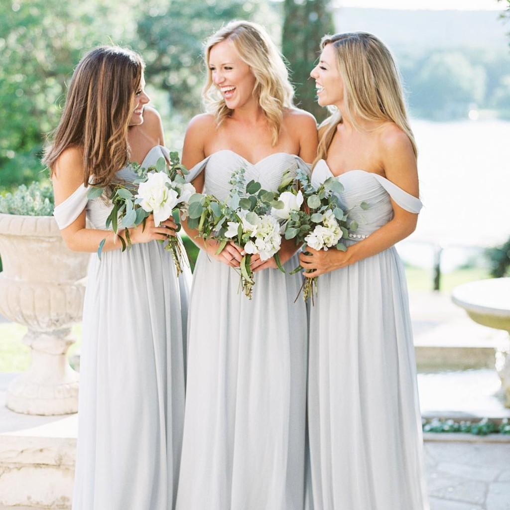 Soft chiffon, gorgeous greys, and the most wonderful wedding day.💍