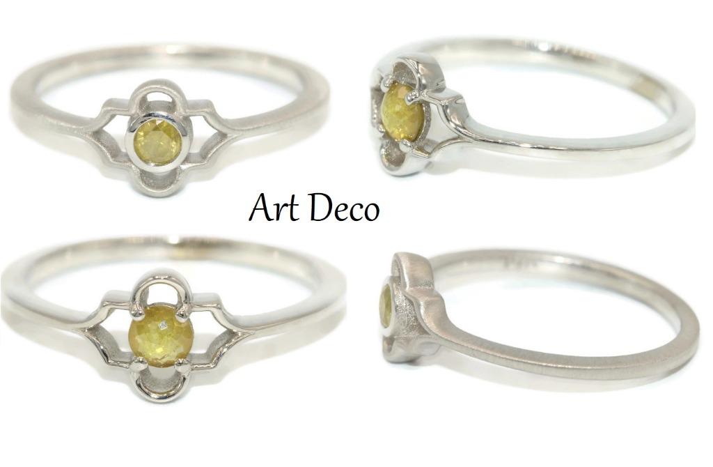 Unfading Art Deco Style Engagement Rings.