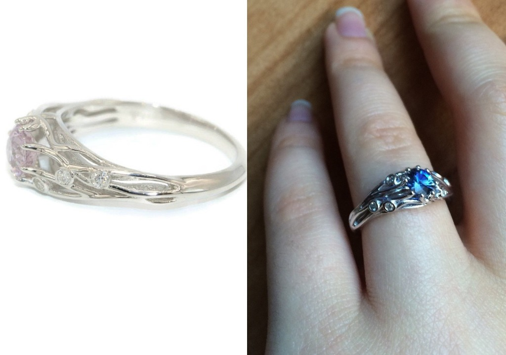 You are under my skin. One of a kind unique engagement ring that will show your love and your true feelings.