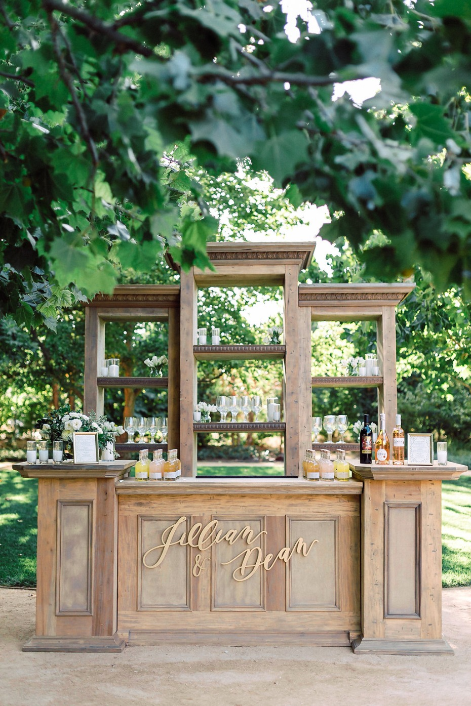 Stylish wedding bar
