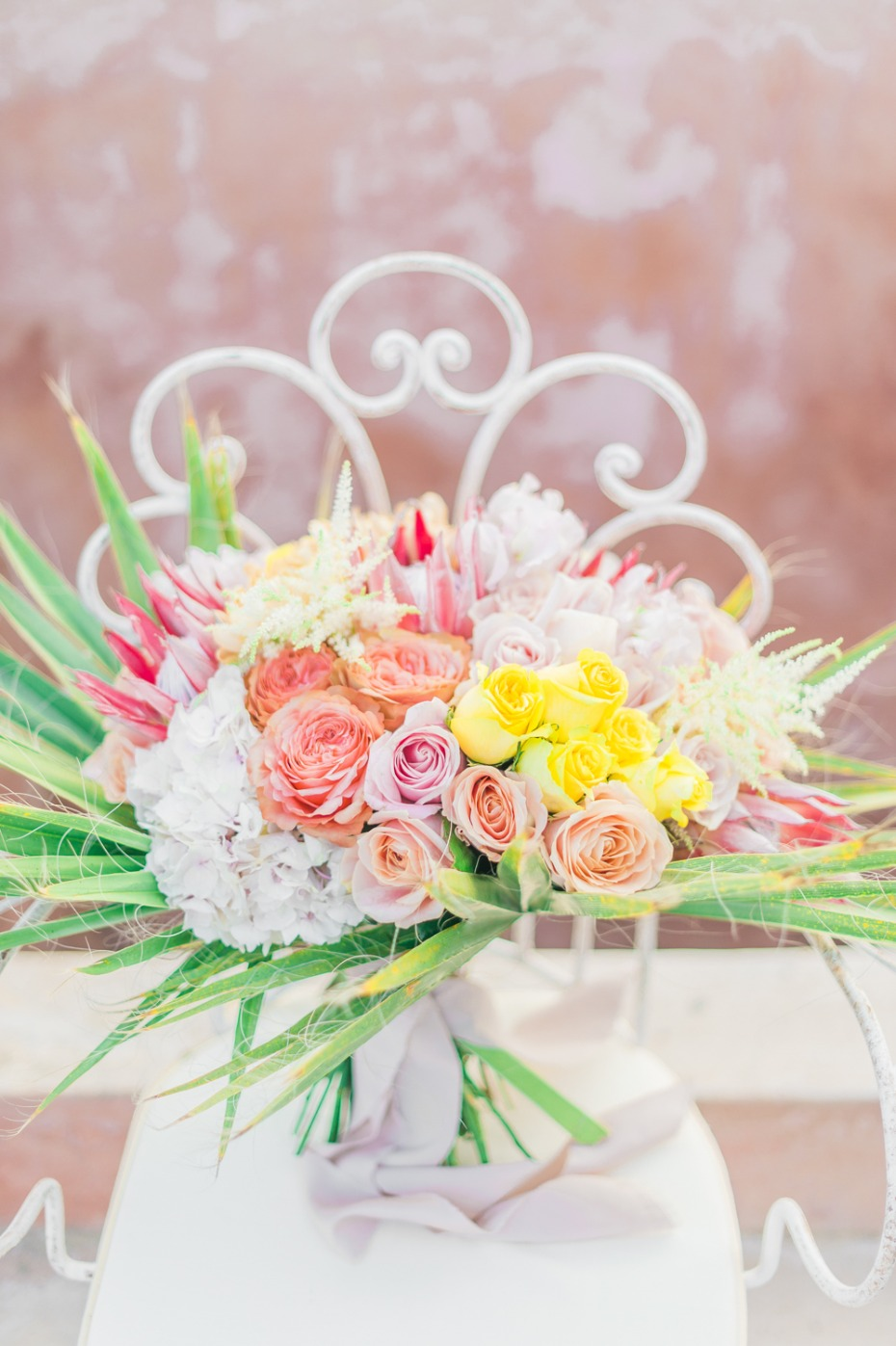 Yellow, orange, and pink bouquet