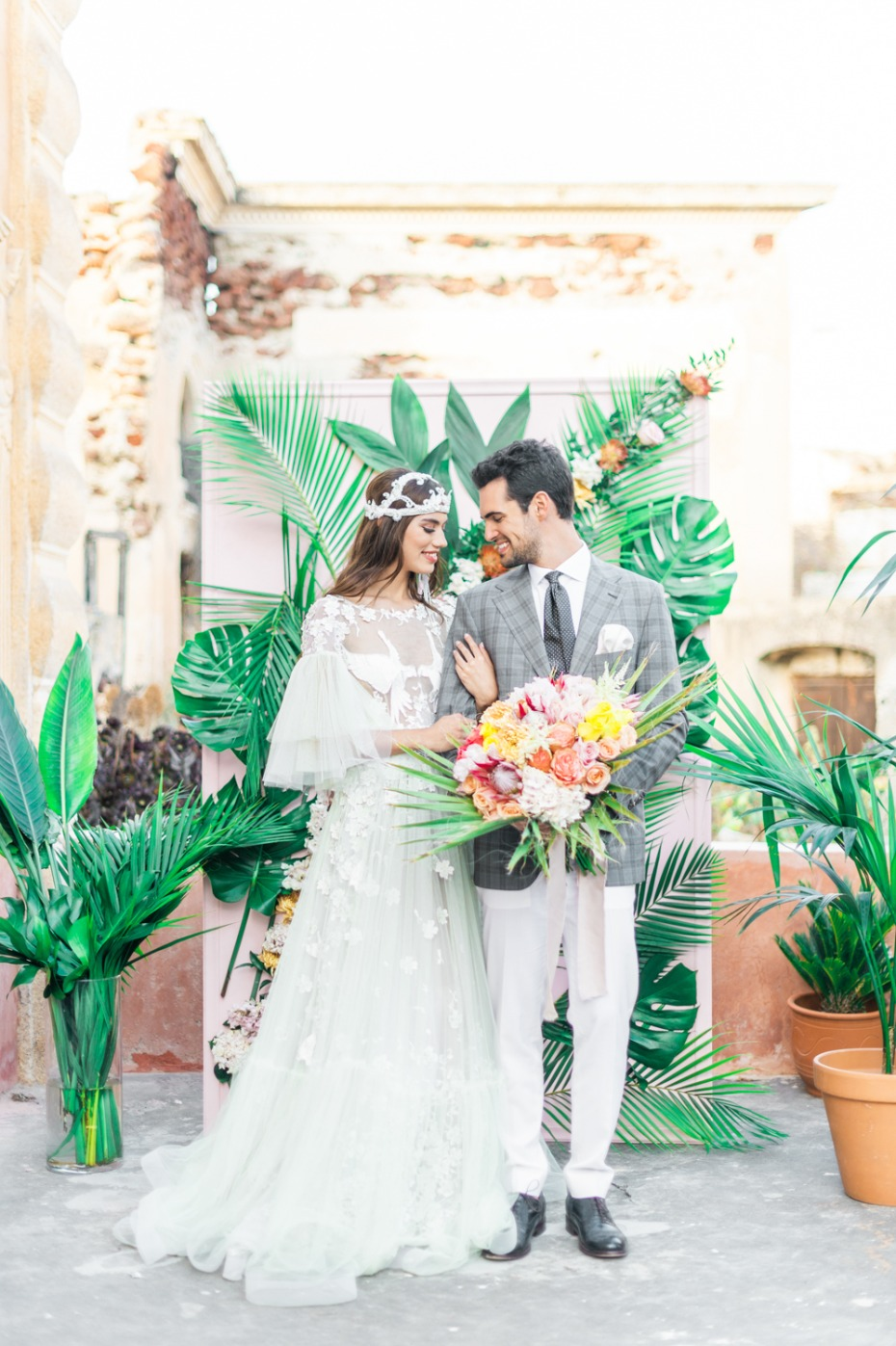 Tropical boho wedding ideas from Greece