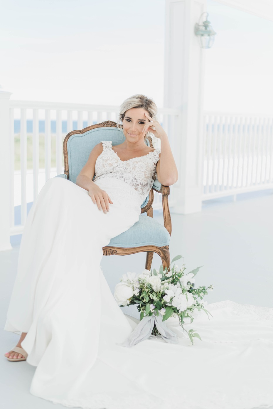 beach wedding bridal style