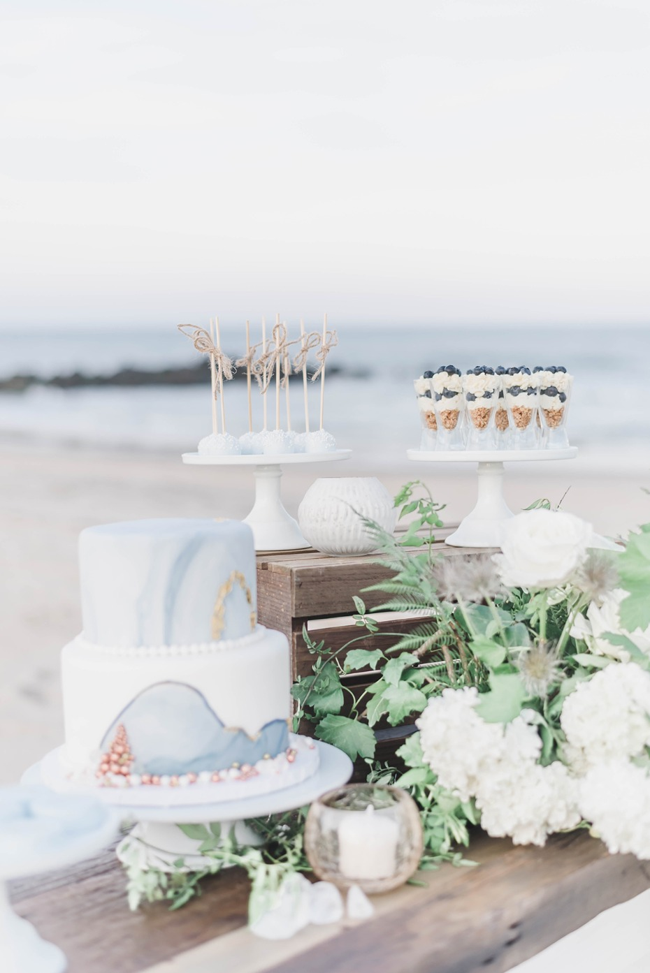 dessert table for you beach wedding