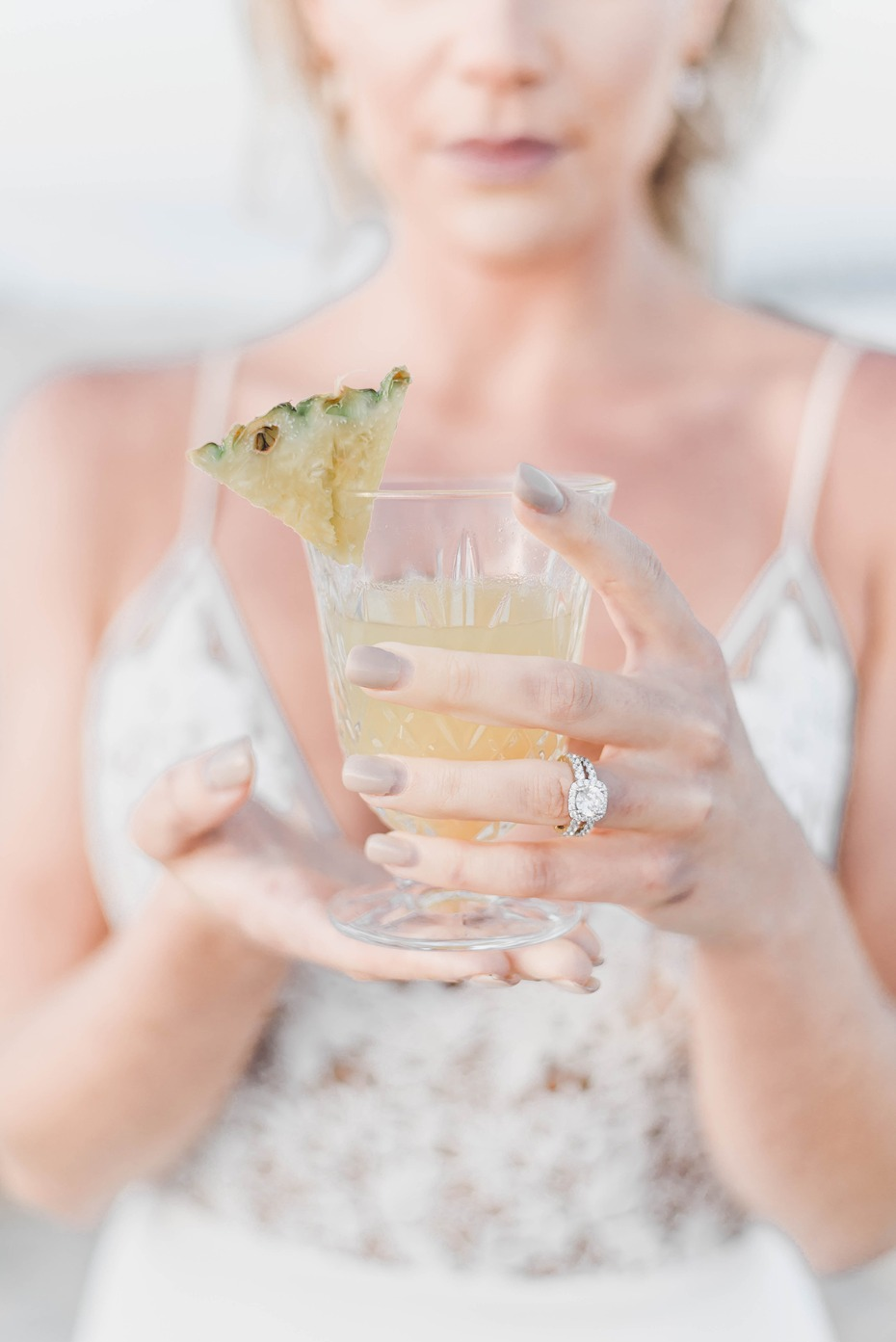 beach wedding cocktail