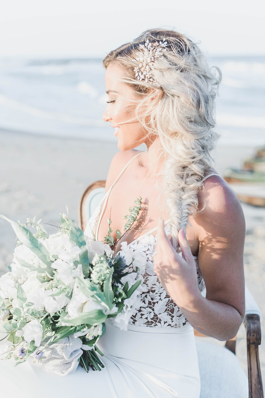 beach ready fishtail wedding braid